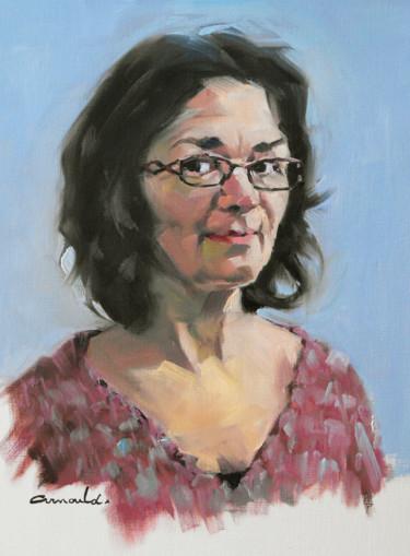Christine (huile sur papier toilé 31 x 47)