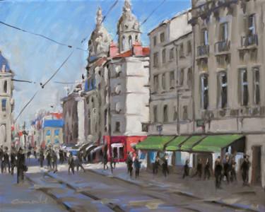 Nancy rue Saint Jean (huile sur toile 41 x 33)
