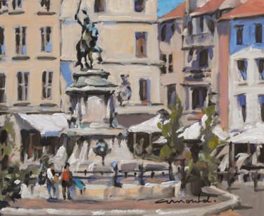 Place Saint Epvre à Nancy (huile sur carton (27 x 22)