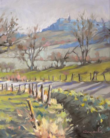 Colline de Sion au loin (huile sur toile 41 x 33)