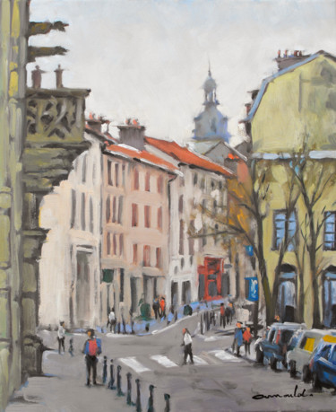Vieille ville Nancy 1 (huile sur toile 46x 38)