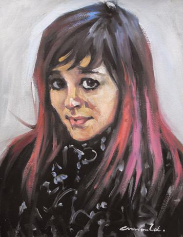 Manon (huile sur papier 35 x 27)