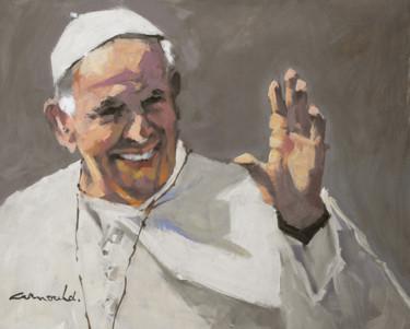Pape François (huile sur carton 41 x 33)