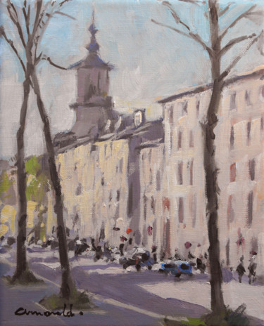 Eglise Bonsecours à Nancy (pochade sur toile 27 x 22)