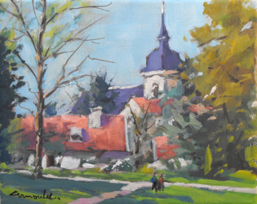 Parc Olry à Nancy (pochade sur toile 27 x 22)