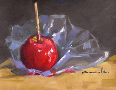 Pomme d'Amour (huile sur papier 27 x 22)
