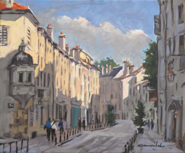 Grande rue à Nancy (huile sur toile 46 x 38)