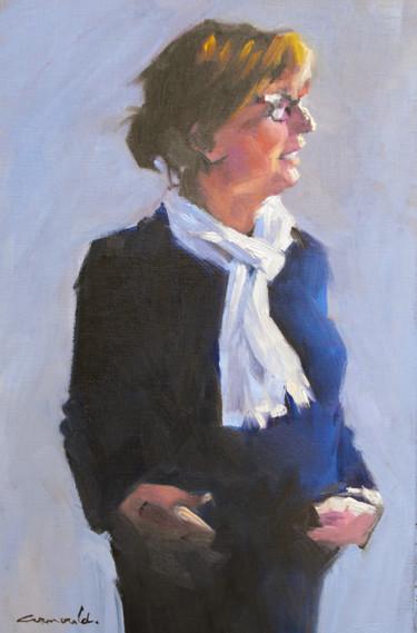 Françoise Marie (huile sur papier 41 x 25)