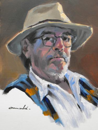 Autoportrait d'avant (huile sur papier 33 x 24)