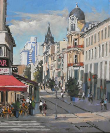 Rue Saint Georges à Nancy (huile sur toile 55 x46)