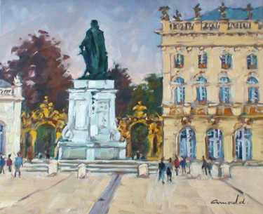Place Stan ce matin (huile sur toile 46 x 38)