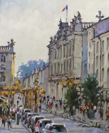 Rue Gambetta ce matin (huile sur toile 46 x 38)