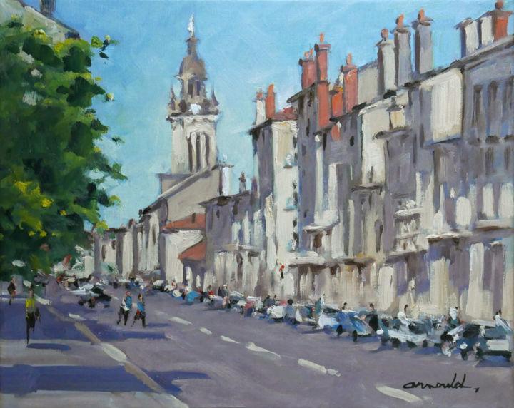 Christian Arnould - Rue Mont Désert à Nancy (huile sur toile 46 x 38)