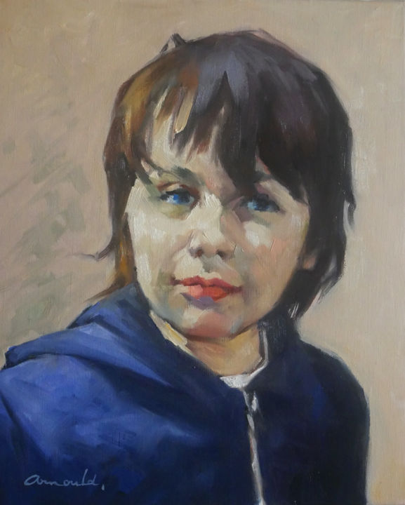 Christian Arnould - Portrait de commande (huile sur toile 46 x 38)
