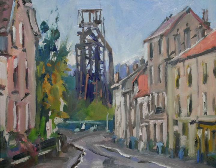 Christian Arnould - Pochade (huile sur papier 27 x 22)
