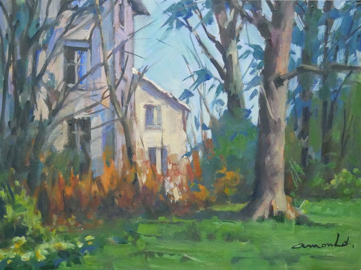 Christian Arnould - Parc Sainte Marie (huile sur carton 41 x 33)