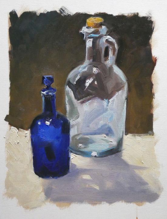 Christian Arnould - Nature morte (huile sur papier 41 x 33)