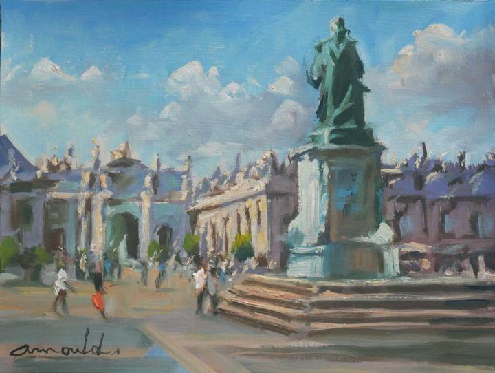 Christian Arnould - Pochade place Stan 2