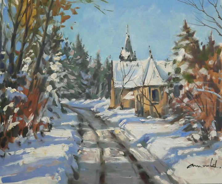 Christian Arnould - Balade dans les Vosges (huile sur papier 46 x 38)