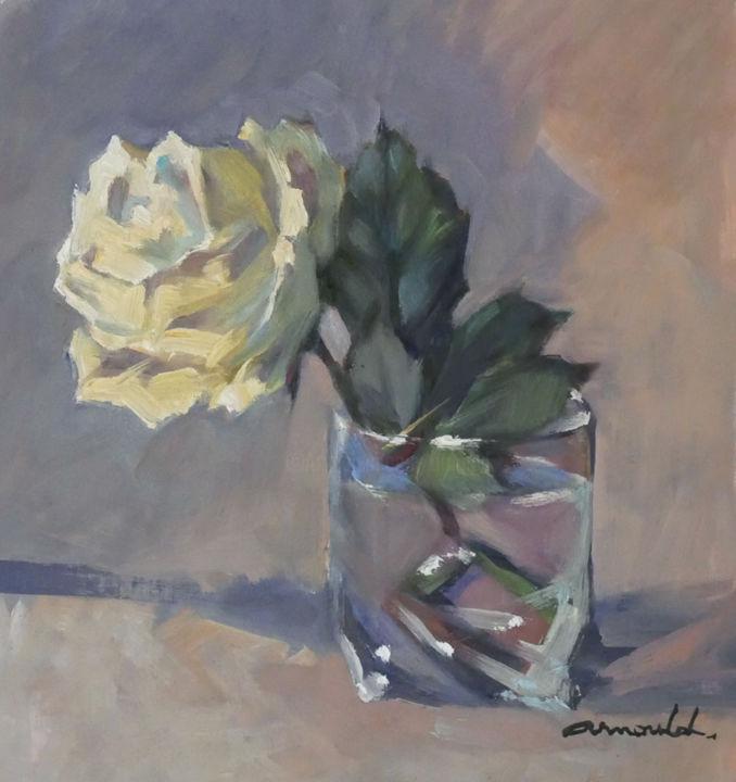Christian Arnould - La rose du 101 (huile sur papier 30 x 30)