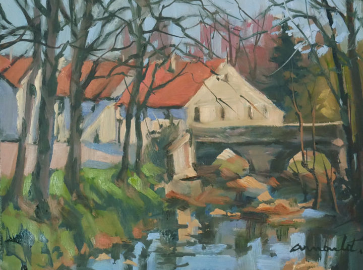 Christian Arnould - Pochade Villacourt