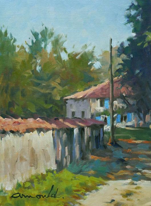 Christian Arnould - Maison aux volets bleus à Puzieux
