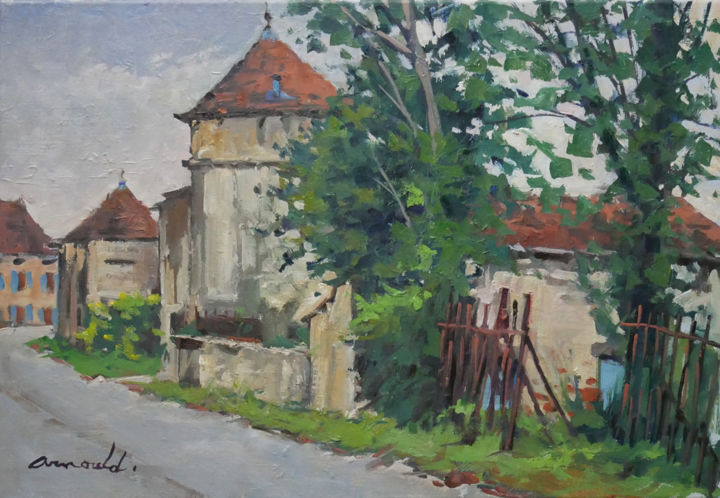 Christian Arnould - Neuviller sur Moselle 3 (huile sur toile 55 x 38)