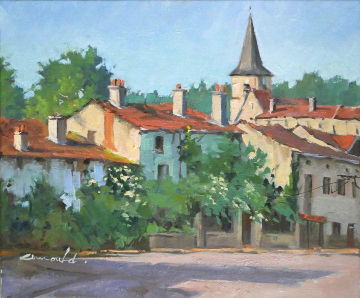 Christian Arnould - Neuviller sur Moselle 2 (huile sur toile 55 x 46)