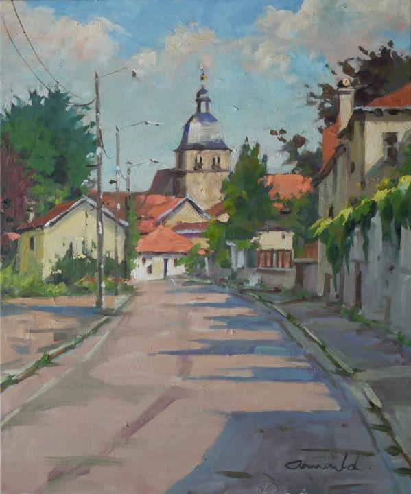 Christian Arnould - Le Prieuré à Flavigny 2 (huile sur toile 55 x 46)