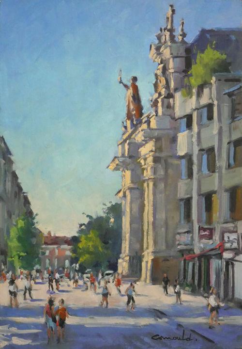 Christian Arnould - Un matin à Nancy (huile sur toile 61 x 38)