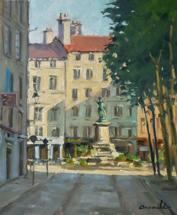 Christian Arnould - Matin tôt place Saint Epvre à Nancy