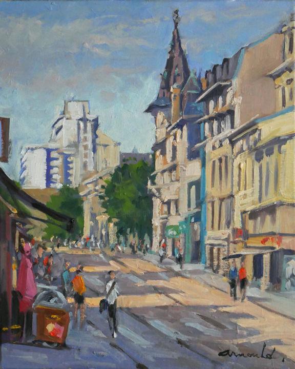 Christian Arnould - Rue Saint Jean ce matin à Nancy