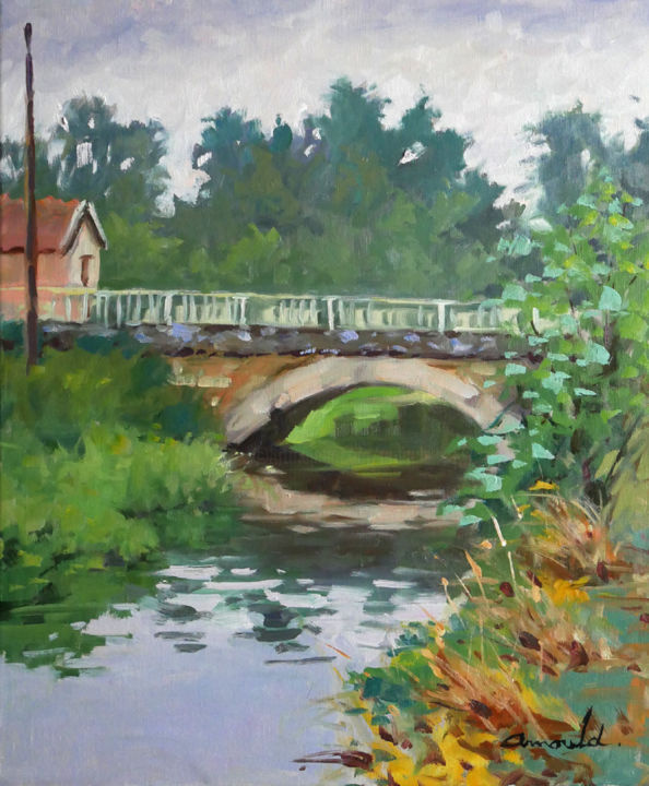 Christian Arnould - Le petit pont par temps couvert