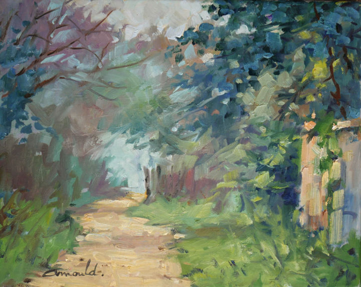 Christian Arnould - Brume (huile sur toile 46 x 38)