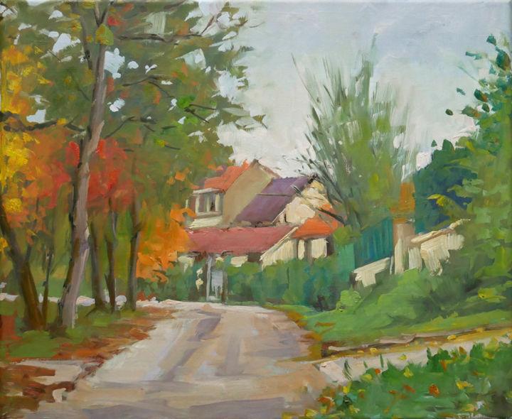 Christian Arnould - Petit coin à Richarménil (huile sur toile 46 x 38)