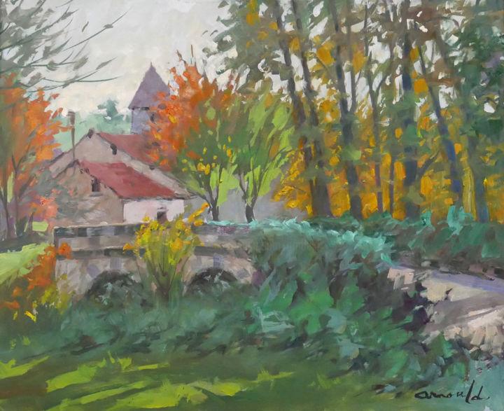 Christian Arnould - Lavincourt (huile sur toile 61 x 50)