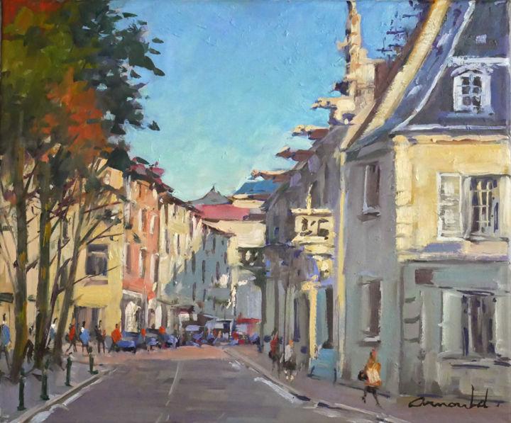 Christian Arnould - Grande rue à Nancy (huile sur toile 55 x 46)