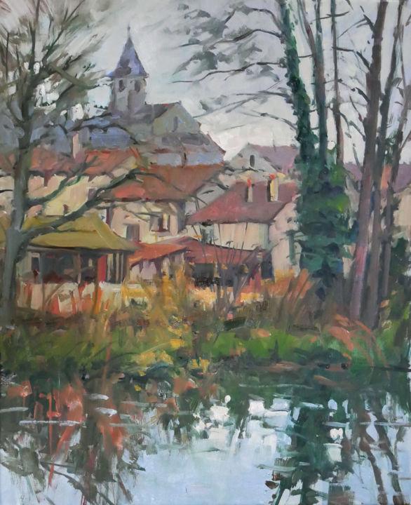 Christian Arnould - Ce matin à Flavigny (huile sur toile 61 x 50)