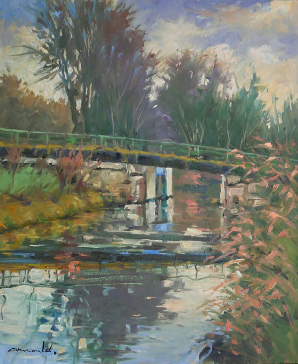Christian Arnould - Hier sur le bord du canal à Flavigny