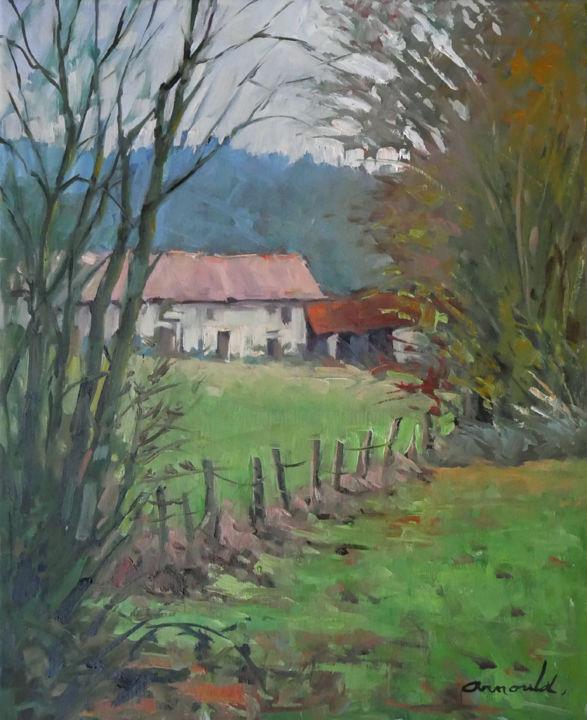 Christian Arnould - Le clos du mesnil (huile sur toile 61 x 50)