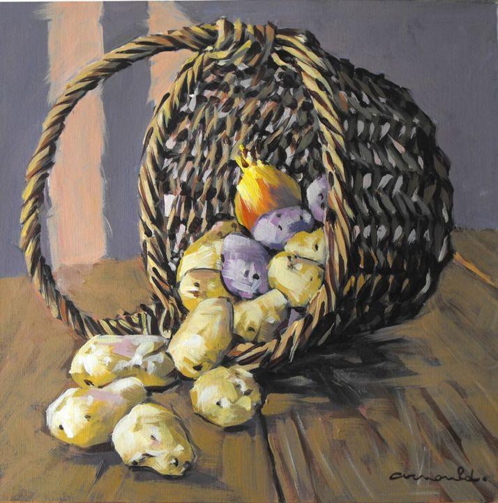 Christian Arnould - Panier de pommes de terre - 32 x 32