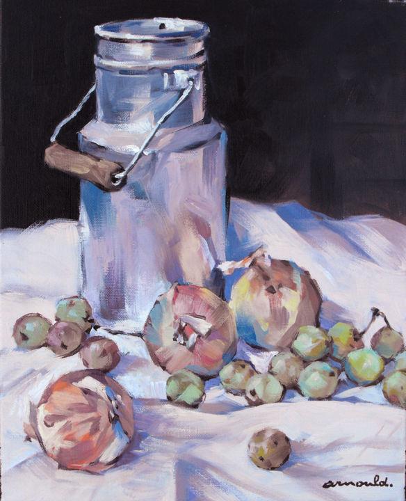 Christian Arnould - Pot a lait - Huile sur toile 41 X 33