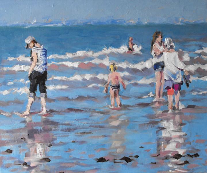 Christian Arnould - Sur la plage de Ouistreham