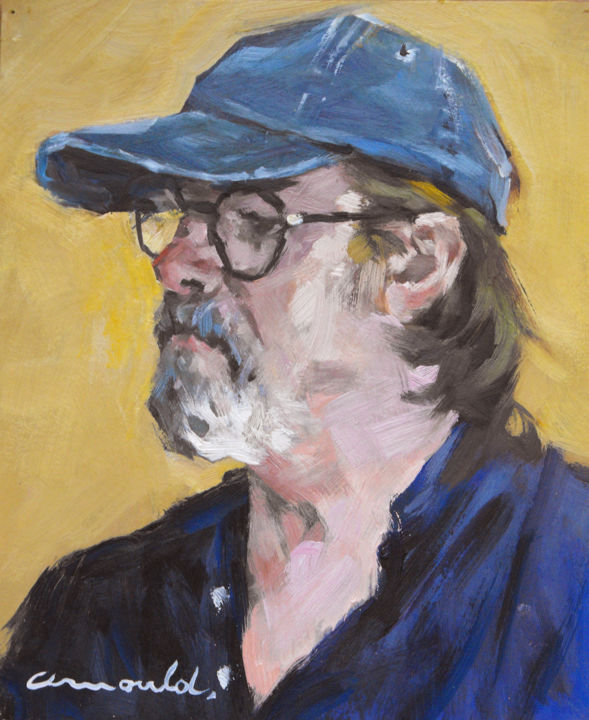 Christian Arnould - Autoportrait (huile sur carton 27 x 22)