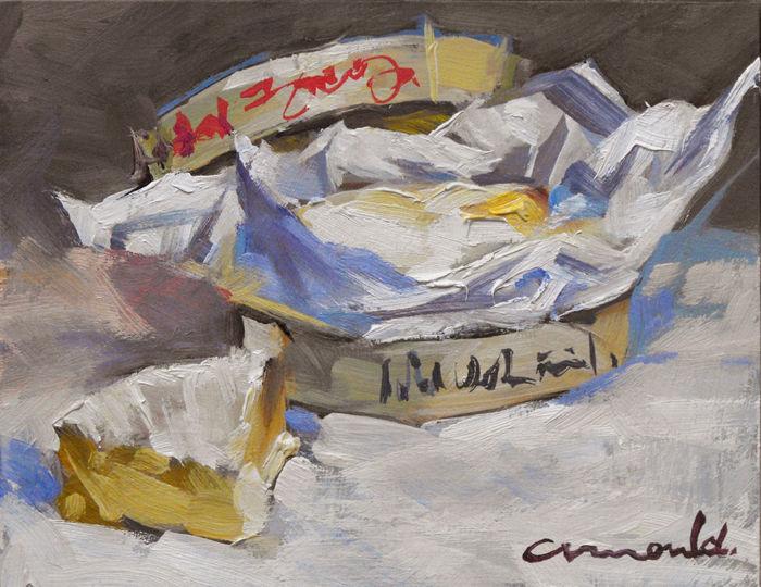 Christian Arnould - Pochade Camembert (huile sur carton 18 x 14)