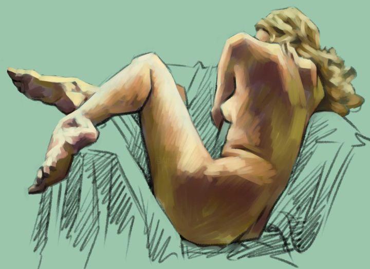 Christian Arnould - Nu  - Paint Tool SAI -