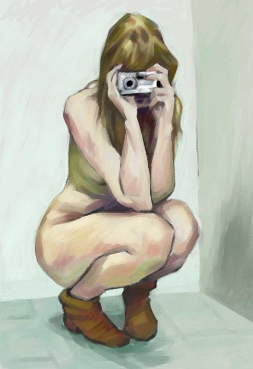 Christian Arnould - Nu photographe - Paint Tool SAI -
