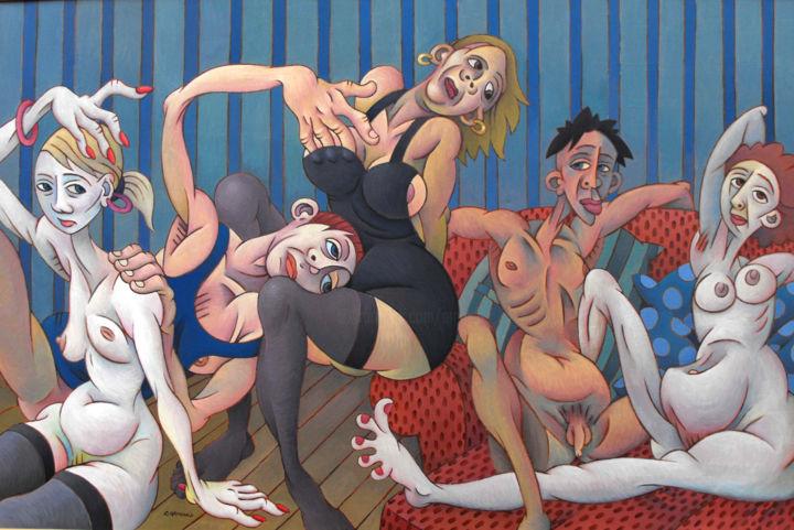 Christian Arnould - L'ennui - acrylique sur toile -