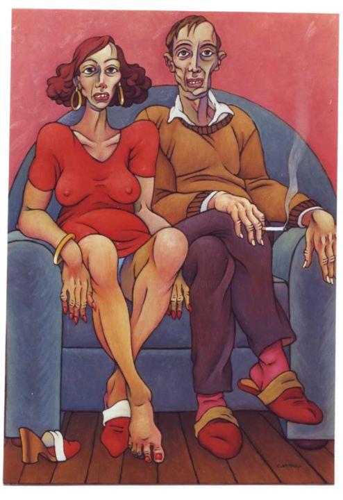 Christian Arnould - Couple 1 - Acrylique sur toile -