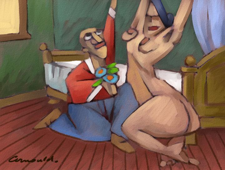 """Christian Arnould - L'amoureux """"recherche sur Paint Tool SAI"""""""